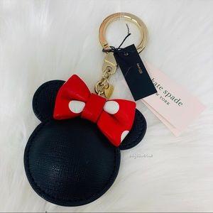 Kate spade Minnie Mouse key bob key chain black